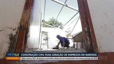 Construção civil puxa geração de empregos em Maringá - Saldo, segundo o Caged, coloca a cidade em 2º lugar em criação de postos de trabalho no Estado