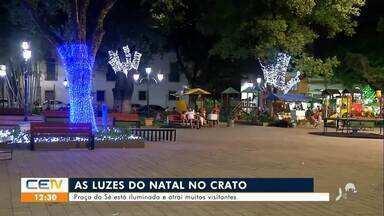 Praça da Sé no Crato está iluminada e atrai muitos visitantes - Saiba mais no g1.com.br/ce