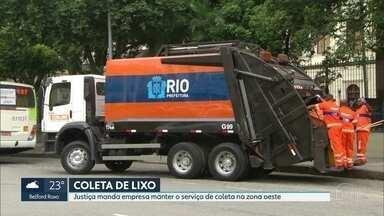 Justiça determina empresa de caminhões de lixo a manter coleta na Zona Oeste - O dia começou com lixo acumulado nas ruas de Campo Grande e Guaratiba.