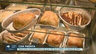 Comércios que preparam ceias têm movimentação intensa em Campinas - Moradores que optam pela comodidade em comprar comida para o Natal encontram opção em restaurantes e padarias.