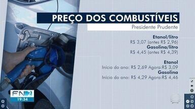Preços dos combustíveis sofrem aumento nos postos em Presidente Prudente - Elevação impacta o bolso dos consumidores na hora do abastecimento dos veículos.