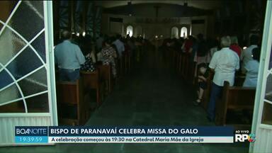 Hoje tem celebração de Natal em igrejas do Noroeste - Em Paranavaí o bispo rezou a missa do Galo na Catedral Maria Mãe da Igreja.