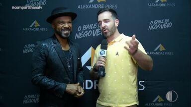 Entrevista com Alexandre Pires - Flipe e o cantor brincaram com jogo de palavras