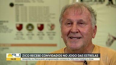 Zico reúne amigos em jogo beneficente no Maracanã - Evento acontece amanhã, no Maracanã