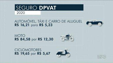 DPVAT de 2020 vem com valores reduzidos - Para carros, a taxa cai de R$ 16,21 para R$ 5,23.