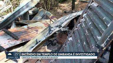 Polícia investiga como criminoso incêndio em templo de umbanda - O templo Cabocla Jurema de Umbanda fica no Núcleo Rural Sarandi em Planaltina. Além do fogo, objetos foram levados do local.