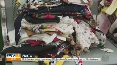 Dupla é presa por suspeita de furtar loja no Jardim Monte Alegre em Ribeirão Preto - Vizinhos escutaram barulhos e chamaram a Polícia Militar, que prendeu os suspeitos.