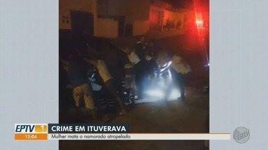 Mulher mata companheiro atropelado e confessa crime em vídeo em Ituverava,SP - Cláudia Aparecida, de 47 anos, foi indiciada por homicídio qualificado e embriaguez ao volante.