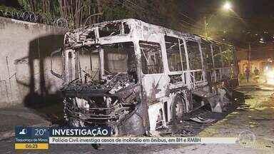 Belo Horizonte e região registram pelo menos 11 ataques a ônibus em 2019 - Polícia Civil investiga dois incêndios em coletivos ocorridos neste domingo (29) na capital e em Esmeraldas.