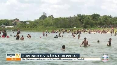 Banhistas aproveitam pra se refrescar nas represas - Bombeiros recomendam cuidados para evitar afogamentos