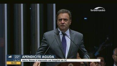 Deputado Aécio Neves é internado em hospital de SC - Deputado Aécio Neves é internado em hospital de SC