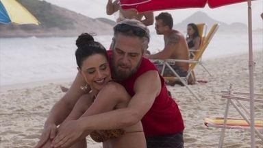 Lulu e Antônio se provocam - O clima fica tenso com o ex-casal e seus novos interesses amorosos