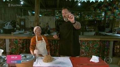 Descendentes de açorianos apresentam a comida típica dos Açores - Jimmy Ogro e Carol Nakamura visitam comunidade perto de Laguna para experimentar as iguarias e aprender a fazer a bijajica