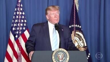"""Donald Trump diz não querer guerra contra o Irã após ataque - Já o líder supremo do país, Ali Khamenei, decretou luto de três dias pela morte de Qassem Soleimani e prometeu uma """"vingança severa""""."""