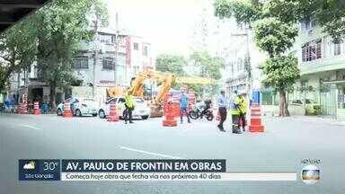 Obra de saneamento vai fechar parte da Avenida Paulo de Frontin por 40 dias - A via liga a Região Central do Rio ao Túnel Rebouças. O bloqueio será entre a Rua Santa Amélia e a Rua Haddock Lobo, no sentido Zona Sul.