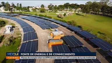 UFPR instala sistema de energia solar e deve economizar mais de R$ 1,5 milhão em um ano - Também foram trocadas as lâmpadas dos campi por de LED.