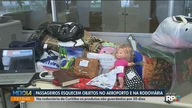 Passageiros esquecem objetos nos aeroportos e nas rodoviárias - Tem de tudo: de mochilas a bengala.