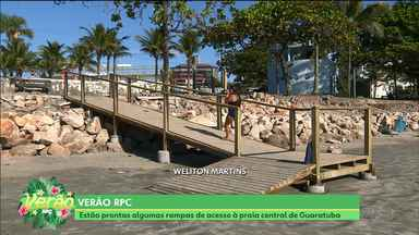 Finalmente: rampas de acesso em Guaratuba estão prontas - Agora dá para descer a calçada e ir direto pra areia sem passar por obstáculos