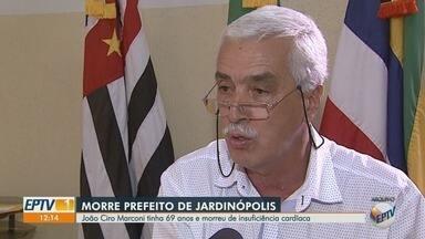 Morre o prefeito de Jardinópolis, SP, João Ciro Marconi (MDB) - Ele tinha 69 anos e faleceu em decorrência de insuficiência cardíaca.