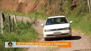 Zé do Bairro: moradores do Sertãozinho, em Resende, pedem linha de ônibus no bairro - População diz que para ir ao Centro contam com caronas, vão a pé ou de transporte por aplicativo. Contudo, essa última opção custa R$ 80 a corrida.