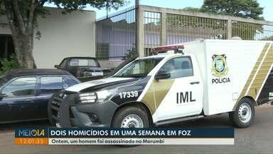 Dois homicídios são registrados em Foz do Iguaçu em uma semana - Segundo crime foi na segunda-feira (6), no Morumbi.