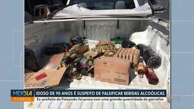 Ex-prefeito de Paiçandu é preso por falsificação de bebidas - Idoso de 90 anos é acusado de falsificar destilados.