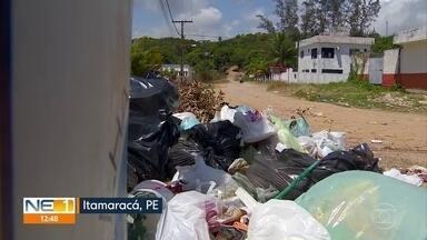 Moradores de Itamaracá reclamam de falta de coleta de lixo - Algumas pessoas reclamam por pagarem pela realização do serviço, que é de responsabilidade do poder público.