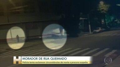 Polícia tenta esclarecer circunstâncias da morte de morador de rua e procura suspeito - Polícia de São Paulo está atrás de um homem suspeito de ter colocado fogo num morador de rua. Ele vai ser enterrado na quarta-feira (8) em Sergipe.
