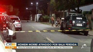 Homem morre atingido por bala perdida em Maracanaú - Saiba mais no g1.com.br/ce