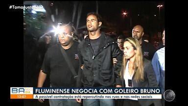 Presidente do Fluminense de Feira diz que negociações com goleiro Bruno estão avançadas - Possível contratação pelo time baiano tem repercutido nas redes sociais.