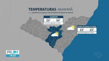 Previsão é sol e calor em Alagoas - Estimativa é de tempo seco em todo o estado.