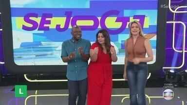 Programa de 08/01/2020 - Fernanda Gentil tenta pular corda com o auxílio de Leandro Zulu. Plateia e apresentadores se divertem relembrando os verões de todos os tempos. Gshow no 'Se Joga' mostra o sucesso de Avenida Brasil no exterior e muito mais!