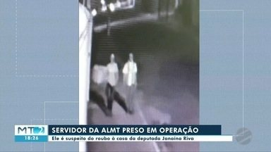 Servidor da ALMT está entre presos por suspeita de roubo à casa de deputada Janaina Riva - Servidor da ALMT está entre presos por suspeita de roubo à casa de deputada Janaina Riva