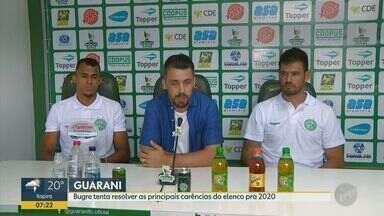 Guarani tenta resolver as principais carências do elenco pra 2020 - Bugre apresentou reforços nesta quarta-feira no Brinco de Ouro.