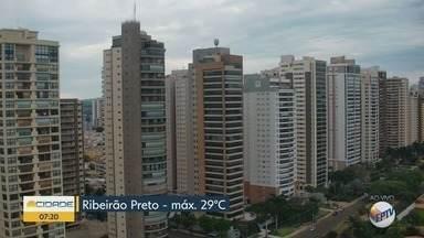 Veja a previsão do tempo para Ribeirão Preto, SP - Termômetros marcam máxima de 29 graus.