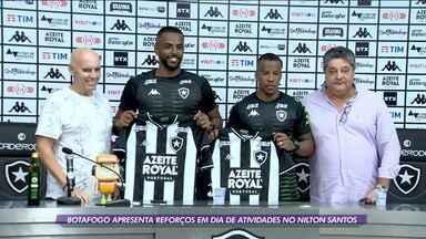 Dia do Botafogo tem treino e apresentações de reforços - Dia do Botafogo tem treino e apresentações de reforços