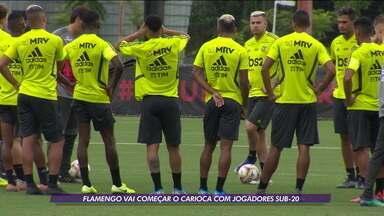 Flamengo se prepara para começar o Carioca com jogadores sub-20 - Flamengo se prepara para começar o Carioca com jogadores sub-20