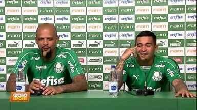 Dudu e Felipe Melo defendem Luxemburgo e falam que o Palmeiras precisa conquistar títulos - Dudu e Felipe Melo defendem Luxemburgo e falam que o Palmeiras precisa conquistar títulos