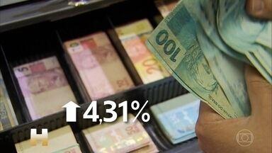 Inflação oficial fechou 2019 em 4,31%, segundo o IBGE - O índice ficou acima do centro da meta pela primeira vez em três anos. A disparada do preço da carne, que subiu 32%, teve o maior impacto na inflação.