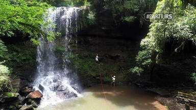 #PartiuRS: conheça as belezas naturais e aventuras de Santa Maria do Herval - Local reúne trilhas e cascatas.