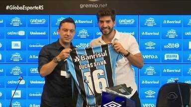Grêmio apresenta volante Lucas Silva como reforço para 2020 - Assista ao vídeo.