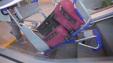 Carrinho inovador se adapta à escada rolante; conheça - Carrinho inovador se adapta à escada rolante; conheça