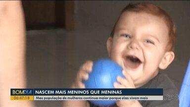 Nascem mais meninos em Ponta Grossa - Mas população de mulheres continua maior porque elas vivem mais.