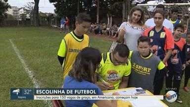 Escolinha de futebol em Americana recebe inscrições para 150 vagas gratuitas - Veja como participar.