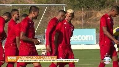 Aposta do Náutico para temporada, Erick é apresentado pelo clube - Aposta do Náutico para temporada, Erick é apresentado pelo clube