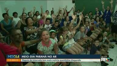 Crianças chamam o intervalo do Meio-Dia Paraná - Para participar é só enviar um vídeo para o aplicativo Você na RPC ou para o (44) 99992-7714.