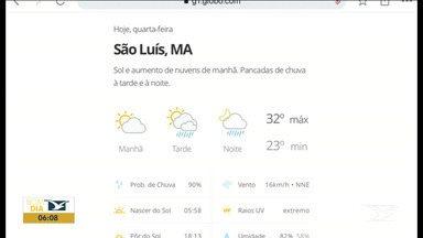 Veja as variações das temperaturas no Maranhão - Confira a previsão do tempo nesta quarta-feira (15) em São Luís e também no interior do estado.