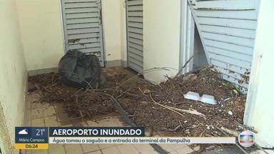 Alagamentos em avenidas e Aeroporto da Pampulha causam transtornos em BH - De acordo com o terminal, operações não foram afetadas.