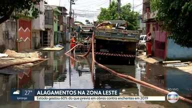 Estado gastou 60% do que previa em obras contra enchentes em 2019 - Vila Noêmia na Zona Leste está alagada há duas semanas. Obra de proteção contra enchentes não atende o bairro.