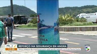Novo sistema de monitoramento é testado no Cais Santa Luzia, em Angra dos Reis - Objetivo é ajudar na segurança pública da cidade.
